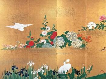 四季花鳥図屏風夏拡大.jpg